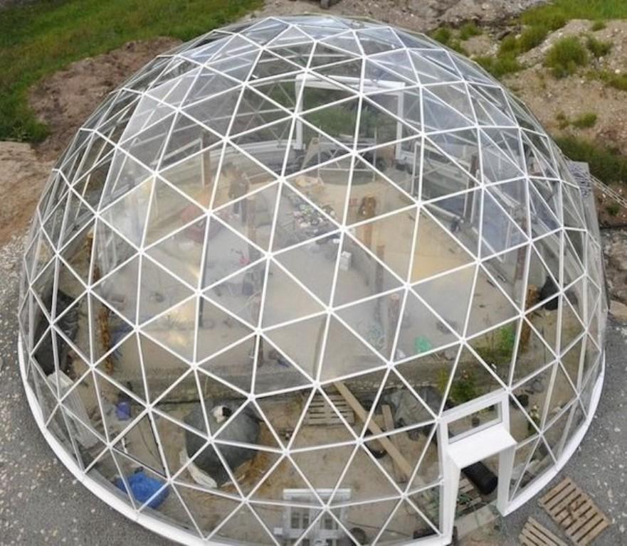 Геодезический сотовый купол своими руками 78